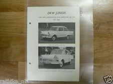 DK2A-DKW TYPEN JUNIOR 750 EN JUNIOR 800 DE LUXE 1957-1962 VINTAGE CAR OLDTIMER
