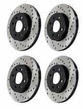 CENTRIC 2008-2014 LEXUS IS-F 5.0L V8 FRONT AND REAR DRILLED BRAKE ROTORS DISCS