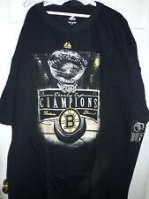 Boston Bruins 2011 Stanley Cup Final Champions hockey T-Shirt NHL NEW 4XLT tall