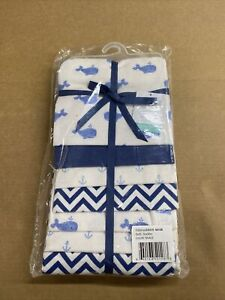 Hudson Baby Flannel Receiving Blankets 7 Pack Blue Whales 30x36in