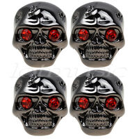 4 Pcs Skull Head Volume Tone Control Knob Black wrench for Guitar Parts