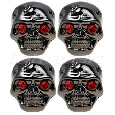 4*Skull Head Volume Tone Control Knob Black wrench For Gibson LP replacement