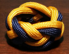 Paracord Neckerchief Woggle Slide - BLUE/GOLD - WOLF SCOUT - Cub Scout Sized!