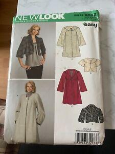 Newlook 6832 4 coats/Jackets  Easy Sizes 8-18 Unused