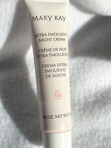 mary kay extra emollient night cream travel size 0.42 oz.