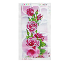 DIY 5D Diamond Embroidery Painting Rose Flower Cross Stitch Home Wall Decor HOT