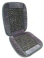 Natural Wood Bead Balls Seat Cushion Auto Car Home Chair Cover Gray Beaded HS4