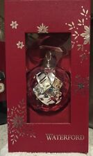 Waterford Ornament Silver Plated  Lismore Ball Ornament 2014