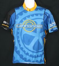 Ms Bike Ride Cannonball Express Bjc HealthCare Cycling Jersey Sugoi Large Blue