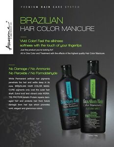 Awesome Brazilian Hair Color Manicure - Acid pH3.5, 3.53 Oz 2pcs + Stain Remover