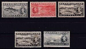 NEWFOUNDLAND CANADA 1937, SG# 257/67, CV £29, part set, Royalty, Fish, MH/USED