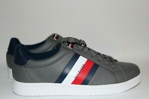 Lectern Signature Sneaker Mens Tommy Hilfiger Gray Multi Low-Top Shoes 10.5M