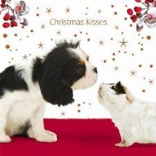Christmas Kisses Cavalier King Charles Spaniel Dog & Guinea Pig 10 luxury cards