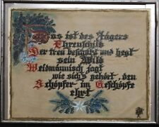 Antique Framed German Words Phrase Hunters Honor Coat 1920 Hand Painted