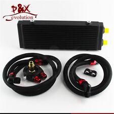 "Medium 14""x5.5""x1.58 Dual Pass Bar & Plate Oil Cooler Filter Adapter Hose Kit"