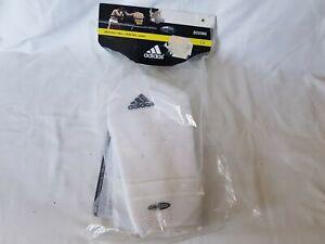 Adidas Martial Arts Shin Pads Kick Boxing (MMA, Muay Thai) ADIBP07,White, Size M