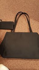 Laura Scott Black Purse Shoulder Strap with wallet Many Compartments