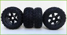 RC 5B Baja Six Spoke Wheels & TyresTrencher Style F/R set (4) Rovan King M PRC