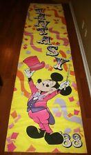1988 Walt Disney World Disneyland Circus Fantasy Sign Banner Pageantry World 12'