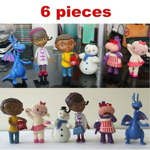 6Pcs Doc McStuffins Lambie Chilly Donny Action Figure Toys Doll Cake Toppers Set