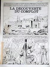 RARE A CE PRIX Planche originale Mellies découverte du complot 1 Tim L'audace 8