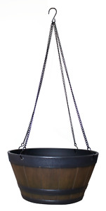Northcote Pottery WHISKEY HANGING BARREL 31cm Weather Resistant *Aust Brand