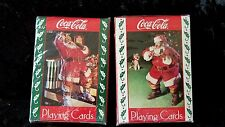 COCA-COLA, COKE CHRISTMAS SANTA CLAUS PLAYING CARDS 2 Sealed NEW decks 1993