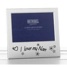 Shudehill I Love My Nan 5x3.5 inch Photo Frame - Silver