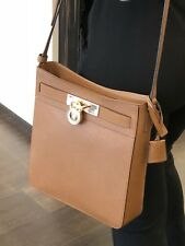 MICHAEL KORS BROWN HAMILTON MESSENGER LEATHER BAG HANDBAG CROSSBODY LUGGAGE MK