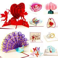 3D Pop Up cartes ST.VALENTIN passionnés joyeux anniversaire VOEUX