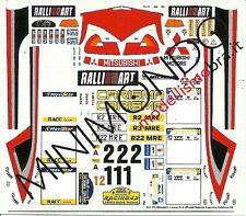 DECALS MITSUBISHI LANCER EV.5 UFFICIALE ARGENTINA CATALUNYA 1998 1/43 RACING43