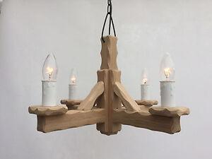 TWSO/4 - Wooden Oak 4-Light Pendant / Oak Wood Ceiling Light