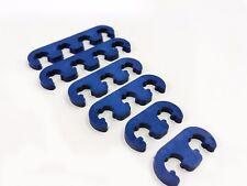 Blue Ignition Lead Brackets Seperators Set Spark Plug Wires