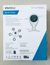 VIVITAR Smart Security HD Wi-Fi Camera White IPC112N-WHT W/Motion Detection NEW