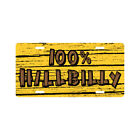 100% HILLBILLY License Plate Funny Redneck Country Novelty Tag