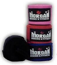 MORGAN BOXING HAND WRAPS 4M PAIR COTTON WRIST GUARD BANDAGES STRAPS AIBA MMA UFC