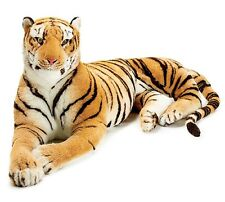 ~~ONE (1) GIANT TIGER PLUSH, BLACK STRIPES & LONG TAIL B978939!