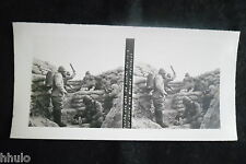 STB632 Lancement Bombe tranchée Photo 1914 Stereo WW1 première guerre mondiale