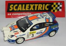 SCALEXTRIC ESPAGNE PLANETA CARLOS SAINZ FORD FOCUS WRC MONTE CARLO 2001