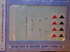 Microscale Decal N  #60-844 Canadian Pacific Bathtub Gondolas, (1985+) Gondola -