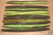 """5"""" Stick Senko Style Bull Frog 100 pack Bulk Bass Plastic Worm"""