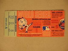 1969 World Series Game 5 New York Mets Ticket Stub EX
