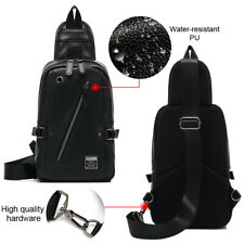 Mens Cross body Shoulder Sling Bag Chest Pack School Daily Travel Pouch Backpack
