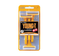 KAI YOUNG-T Disposable Razor 3pcs Thick Single Blade Rough Beard Hair Made Japan