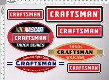 1 sh. craftsman nascar truck series racing decal sticker die cut toolbox kits