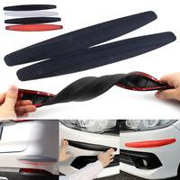 2PC Universal Car Carbon Fiber Anti-rub Strip Bumper Body Corner Protector Guard