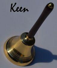 cq - Keen Handcrafted Handmade Wenge Solid Brass Dinner Bell