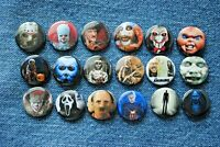 "Horror Scary movie Buttons Pins 1"" Badges Pinback Halloween Pennywise USA Jason"