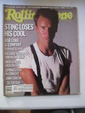 ROLLING STONE MAGAZINE SEPTEMBER 26 1985 ISSUE NO. 457 STING Bruce Springsteen