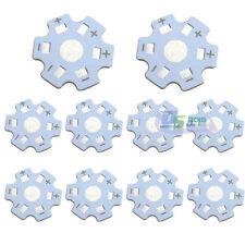 50 Pcs Star 20mm High Power 1W / 3W LED Beads Heat Sink Aluminum Base Plate New